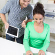 Man and woman working together in office — Stock Photo #37432539