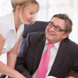 Boss with his secretary — Stock Photo