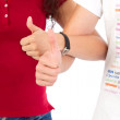 Man and woman with thumbs up — Stock Photo #37451883