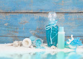 Spa arrangement with natural products for body care from the sea — Foto de Stock