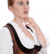 Woman looking into distance — Stock Photo