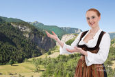 Woman in Dirndl presented Bavaria — 图库照片