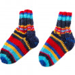 Isolated colorful knitted socks — Stockfoto
