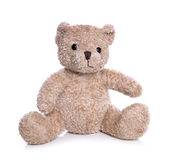 Isolated old teddy bear — Stock Photo