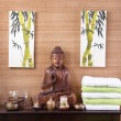 Traditional decoration in a spa massage in thailand with buddha — Stock Photo #40338707