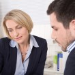 Consultation at office between businesswoman and customer. — Stock Photo