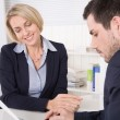 Consultation at office between consultant and customer. — Stock Photo #40840571