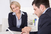 Consultation at office between consultant and customer. — Stock Photo
