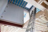 теплоизоляция в новом панельного дома с минеральной ваты ап — Стоковое фото