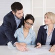 Business team in meeting searching solutions. — Foto Stock