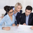 Successful business team - academics with female senior manager — Stock Photo #45208859