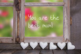 You are the best mum! Greeting card for mother's day — Stock Photo