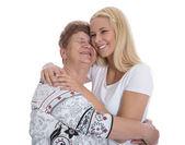 Портрет реального бабушка с внучкой. — Стоковое фото