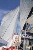 Letní dovolená na oceán - plachetnice - katamarán. — Stock fotografie