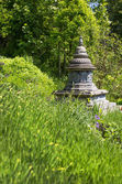 Asian temple like a stupa in the garden. Asiatic background. — Stock Photo