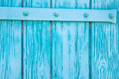 Old rustic wooden background in turquoise color. — Stock Photo