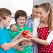 Happy young family have fun in the kitchen - cooking together. — Stock Photo #48822025