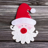 Santa Claus beared with red hat for decoration. — Stock Photo