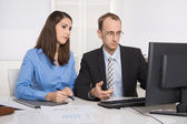 Gossip and harassment under business people on workplace - criti — Stock Photo