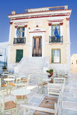 Architecture on the Cyclades. City Hall of Serifos on the greek  — Stock Photo