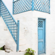 Architecture on the Cyclades. Greek Island buildings with her ty — Stock Photo #50114001