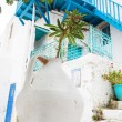Architecture on the Cyclades. Greek Island buildings with her ty — Stock Photo #50114717