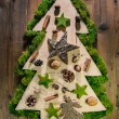 Christmas tree decorated with natural material from the forest. — Stock Photo #50138793