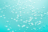 Turquoise or green background with shinny stars. — Stock Photo
