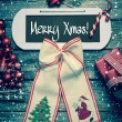 Merry christmas card with text - decoration in vintage style. — Stock Photo #50684769
