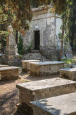 Sightseeing in Corfu City: interesting place - ancient and old b — Stock Photo