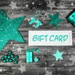 Christmas gift card for a xmas coupon decorated in mint green, w — Stock Photo #50917759