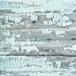 Old wooden background with peeled colour and cracks in mint gree — Stock Photo #51223493