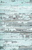 Old wooden background with peeled colour and cracks in mint gree — Stock Photo