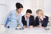 Successful male and female business team at the office. — Stock Photo