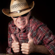 Man showing thumbs up — Stock Photo #33580533