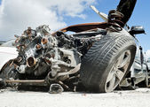 Crashed cars — Foto Stock