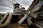 Rusty abandoned ship — Foto de Stock