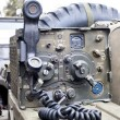 Military radio on a vecle — Stock Photo