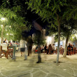 Nightlife in Folegandros, Greece — Stock Photo