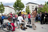 Groupe de jazz street — Photo