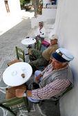 Senior men enjoying their coffee — Stock Photo
