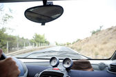 Inside car view — Stockfoto