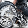 Biker and his motorcycle — Stock Photo #36716793