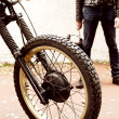 Man and his motorcycle — Stock Photo