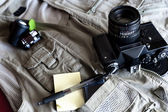Photo reporter's vintage gear — Stock Photo