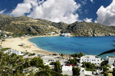 View of Mylopotas beach, Ios island, Greece — Stock Photo