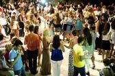 Festive day in a Greek island — Stock Photo