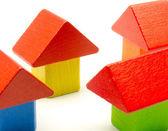 Colorful building blocks for children — Stock Photo