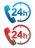 24 hour service hotline — Stockvektor