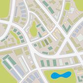 1 mapa da cidade — Fotografia Stock